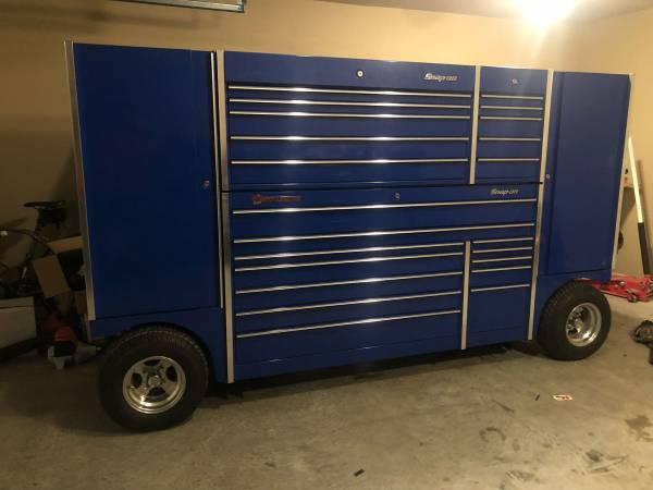 Photo Snap On Triple Bay TUV Pit Box Tool Wagon - $11500
