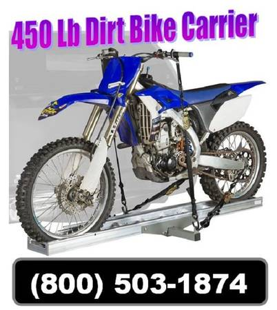 Photo New 450 Lb Dirt Bike Motorcycle Tow Hitch Carrier Rack Hauler - $189