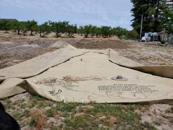 Photo 20,000 gallon Bladder Reservoir Tank - $1,500 (Northern SonomaLake)