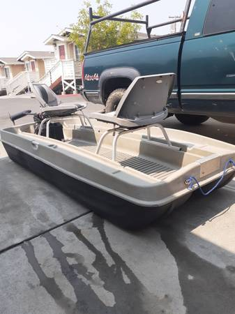 Photo 8.5ft 2-man jon boat w motor - $800 (Kelseyville)