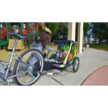 Photo Allen Sports Deluxe Steel 2 Child Bike Trailer (NEW) - $140