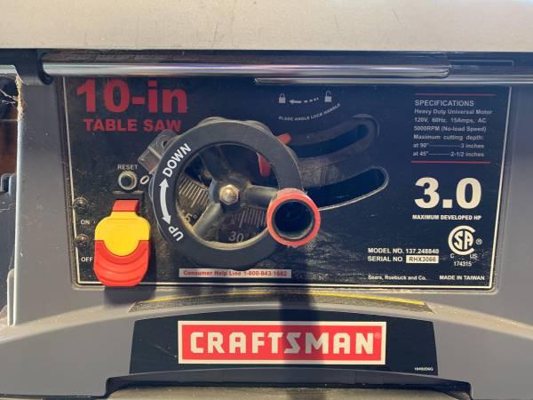 Photo Craftsman Table Saw - $200 (Fort Bragg)