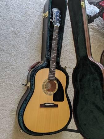 Photo Epiphone Guitar AJ-10  Hard Leather Case - $200 (Citrus Heights)