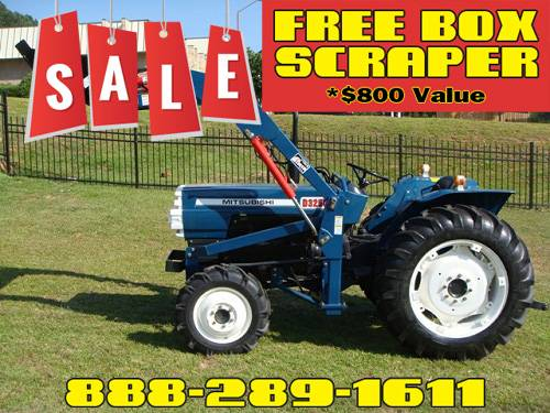 Photo Mitsubishi D3250 4WD Tractor FREE Box Scraper Included - $800 Value (Call Us About Our Lay-A-Way Program Today)