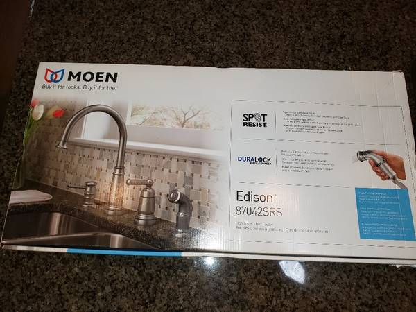 Photo Moen Edison High Arc Kitchen Faucet - NEW - $100 (Folsom)