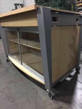 Photo Rolling Counter Display Glass Front Case (4) Avail - $400 (Rancho Cordova)