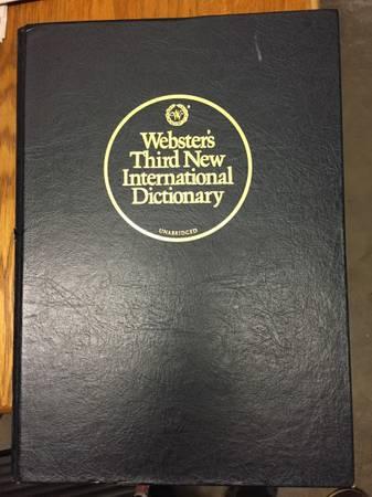 Photo Webster39s Third New International Dictionary Unabridged - $60