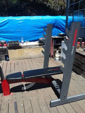 Photo Weider pro heavy duty Olympic weight bench - $300 (Elk - mendocino county)