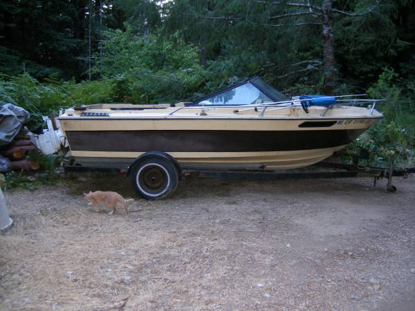 Photo running 1839 Seascape boat and trailer -will trade for a logsplitter - $750 (LeggettWestport)