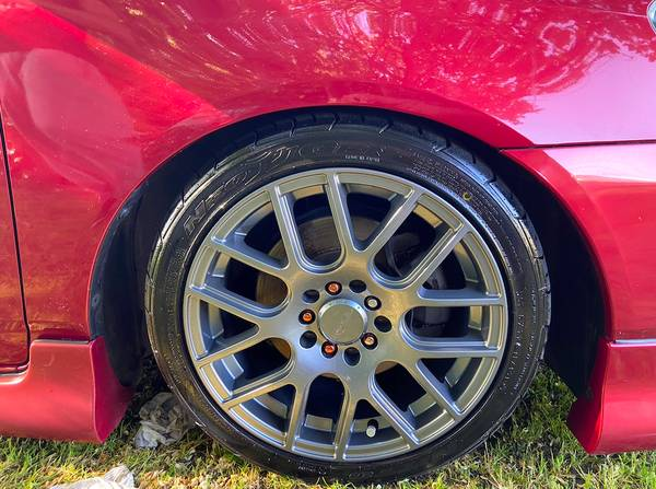 Photo 16quot Wheels with Almost New Nitto NeoGen Tires 16x7, 5x100 5x114.3 - $625 (Los Banos)