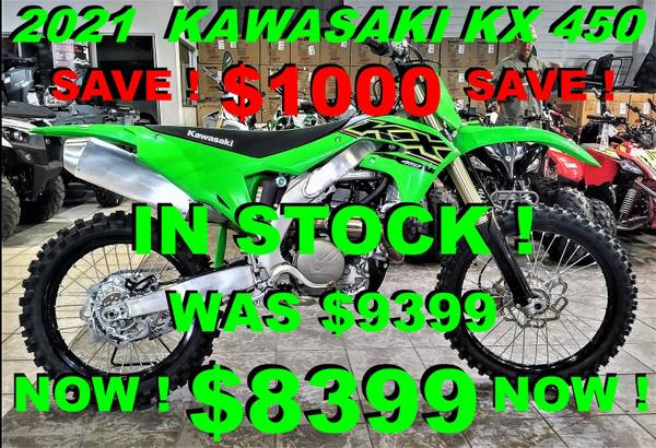 Photo 2021 KAWASAKI KX 450 - $8,399 (Salinas)