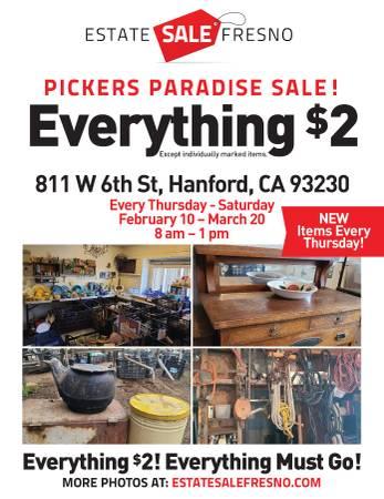 Photo $2 Estate Sale Hanford Thursday - Saturday, 8 am - 1 pm (Hanford, CA)