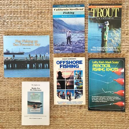 Photo California Fishing Books - $12 (Monterey, Del Monte Beach near NPS)