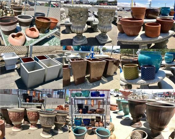 Photo Ceramic  Concrete Pots  Planters (Merced)