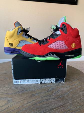 Photo Jordan 5 What the mens size 9.5 - $325 (Los baos)