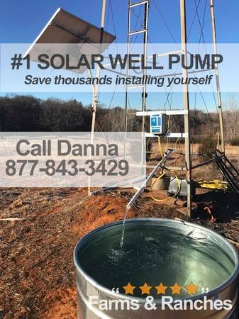 Photo Solar powered deep well pump Small-scale and commercial-scale - $1,550 (merced)