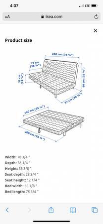 Photo Thick and fluffy full size futon Ikea - $40 (Merced)