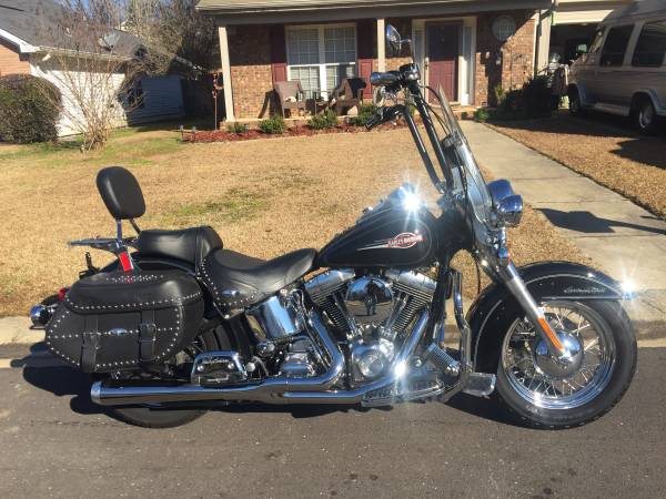 Photo 2005 Harley Davidson Heritage Softail Classic with 16 inch Apes. - $7,500 (Tuscaloosa)