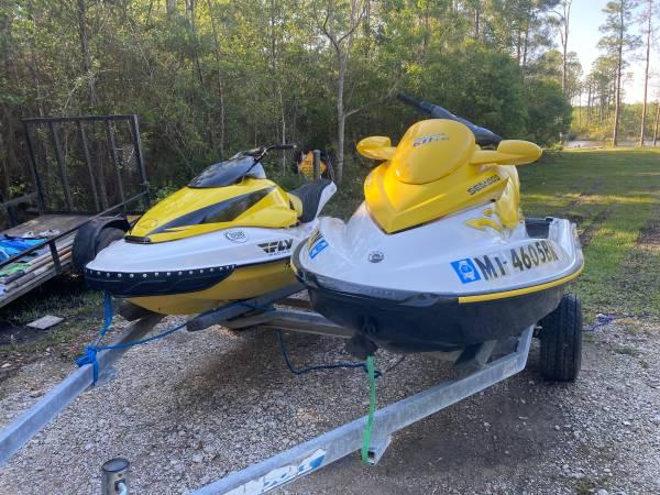 Photo 2 jet ski and trailer - $6,000 (Ocean Springs)