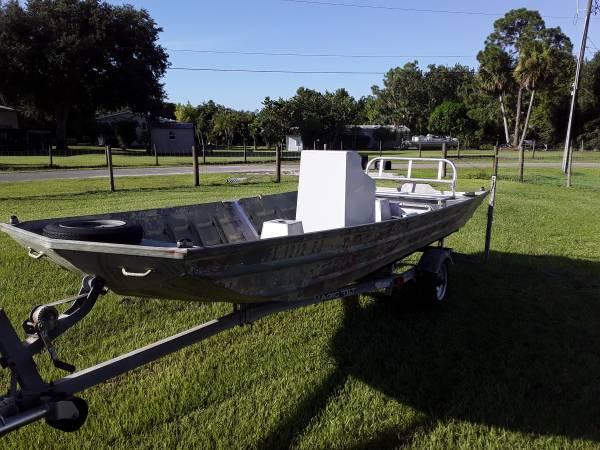 Photo 16 ft Custom Aluminium Jon Boat - $3,200 (Okeechobee)