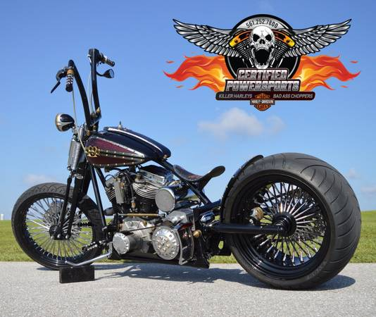 Photo 1950 HARLEY DAVIDSON PANHEAD CUSTOM SPRINGER BOBBER 300 CHOPPER - $34,995 (MINT Condition Legit 1950 Harley Title WPB)