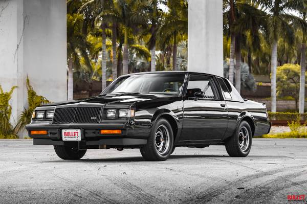 Photo 1987 Buick Grand National, Hard Top, 67k Miles, Restored, Big Turbo - $34000 (Fort Lauderdale)