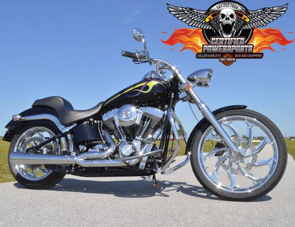 Photo 2000 HARLEY DAVIDSON VERY CUSTOMIZED DEUCE FXSTD Many Extras - $6,999 (1 Owner - Showroom Mint Condition WEST PALM BEA)