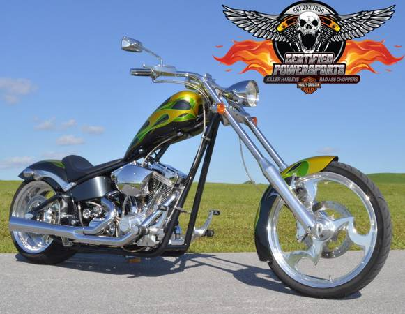 Photo 2004 BIG DOG SOFTAIL CHOPPER, Only 3,401 miles, 1 Owner Mint Condition - $9995 (West Palm Beach 561-252-7800)