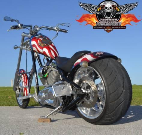 Photo 2005 BIG DOG RIDGEBACK 300 CHOPPER Patriotic American Flag - $10,995 (561-252-7800 Call Jim West Palm Beach)