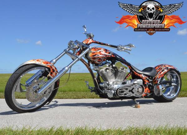 Photo 2007 BIG BEAR 300 SLED PRO STREET SOFTAIL CHOPPER, Only 2,564 Miles - $18,999 (One Owner, $10K Upgraded Custom Paint Job, WPB)