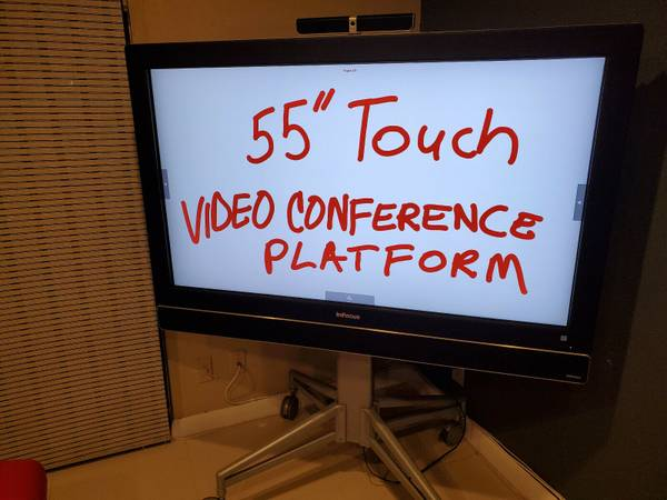 Photo 55quot Multi-Touch All-in-One PC Video Conference Platform with stand - $1,300 (Tamarac)