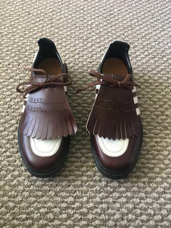 Photo Antique Adidas Leather golf shoe with spikes Size 9 - $125 (aventura)