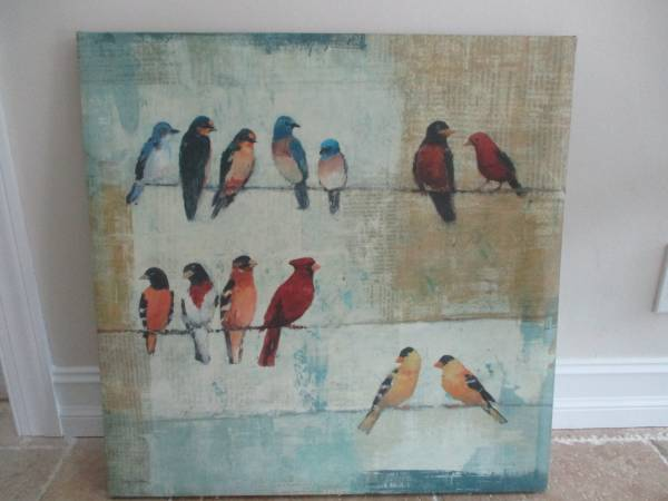 Photo Bird on a Wire Canvas Picture - $20 (Lighthouse Point)