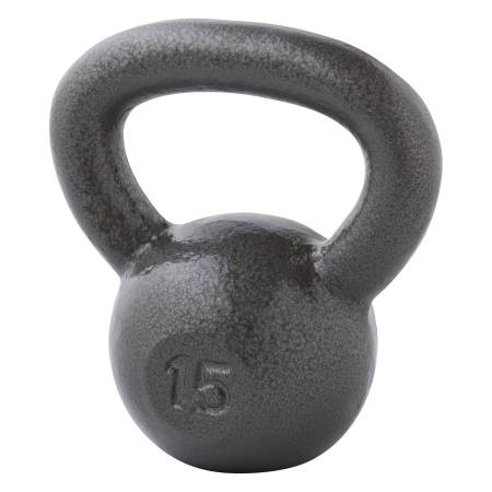 Photo Brand New Weider Cast Iron 15lb Kettlebell for home gym workout - $50 (Hallandale Beach)