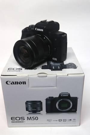 Photo Canon M 50  Canon 18-55 lens - $370 (opa-locka)