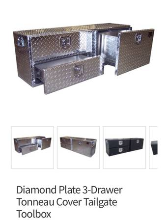 Photo DIAMOND PLATE 3-DRAWER TONNEAU COVER TAILGATE TOOLBOX - $350 (Fort Lauderdale)