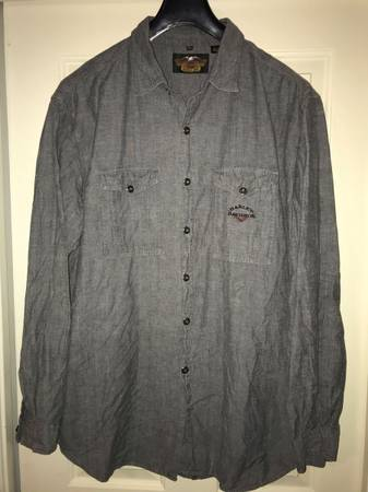 Photo HARLEY DAVIDSON MENS XXL LONG SLEEVE SHIRT 2 POCKETS - $30 (DEERFIELD BEACH)