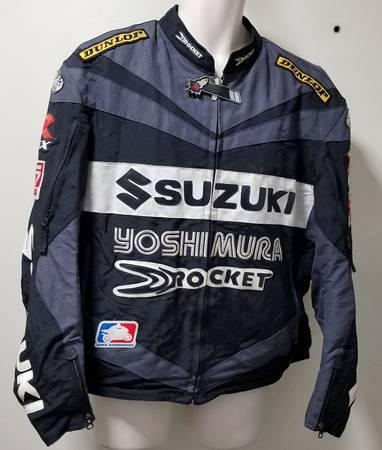 Photo Joe Rocket SUZUKI GSXR Jacket Leather LettersTrim Shoulder Pads XL EX - $75 (Davie)