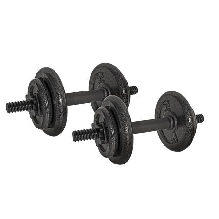 Photo NEW CAP 40 lb. Adjustable Cast Iron Dumbbell Set weights for home gym - $100 (Hallandale Beach)