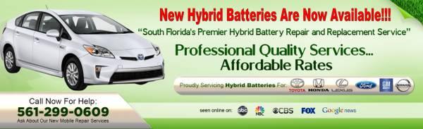 Photo NEW Hybrid Battery for Gen 2  3 Prius - $1,990 (South Florida)