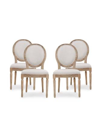 Photo Pottery Barn Set of 4 French Louis XVI dining chairs (4 Pcs - $300 (Miami)