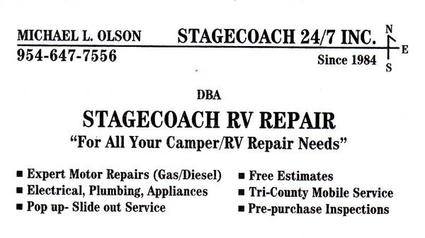 Photo RV repairs, rooftop ac units extended warranty claims filed (limited mobile our yard in dania beach)