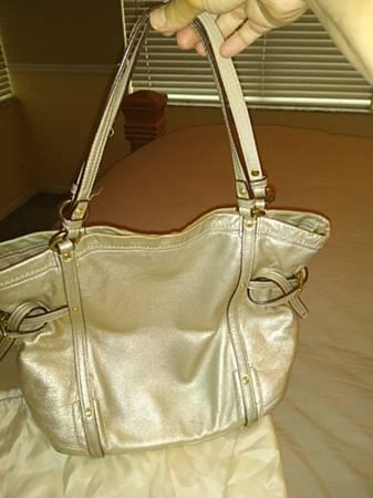 Photo Real Gold Coach Metallic Shoulder Bag - $150 (Delray Beach)