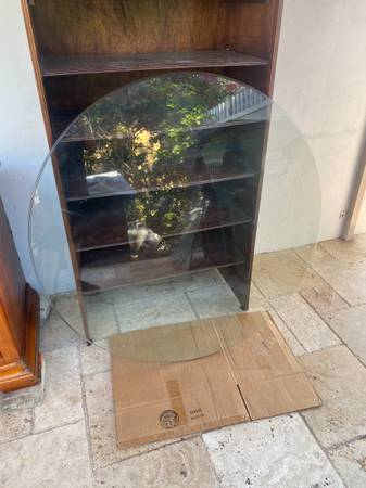 Photo Thick Round Beveled Clear Glass Table Top - $45 (Miami)