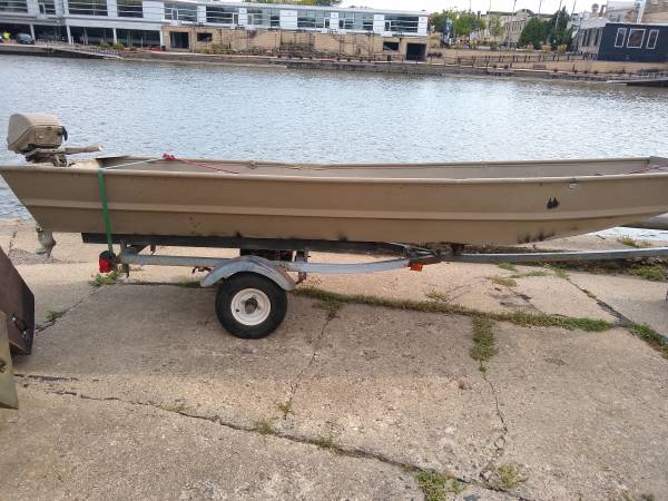 Photo 1439 Jon Boat with Motor and Trailer - $650 (Fort Atkinson)