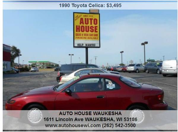 Photo 1990 Toyota Celica ST Local 1 owner Low miles ,cold ac Must See - $2,995 (AUTOHOUSE waukesha)