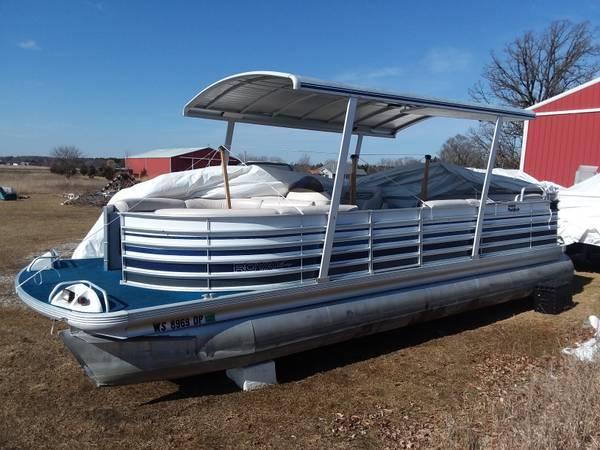 25 Harris Royal Heritage Pontoon Boat 7350 Dousman Boats For Sale Milwaukee Wi Shoppok