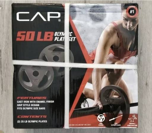 Photo 50lb Cast Iron Olympic 2 Grip Plates. You pick your set. - $100 (Richfield)