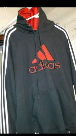 Photo Black red White Adidas hoodie - $40