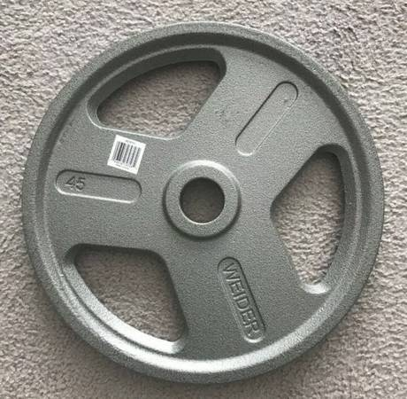 Photo Cast Iron 175lbs. Olympic Weight Plates 2 Hole - $350 (Germantown)